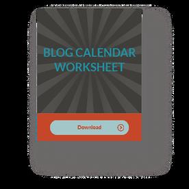 Blog Calendar Template