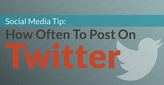 How often should you post on twitter