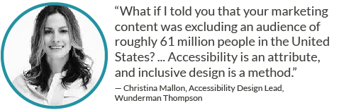 Website accessibility is an attribute and inclusive design is a method