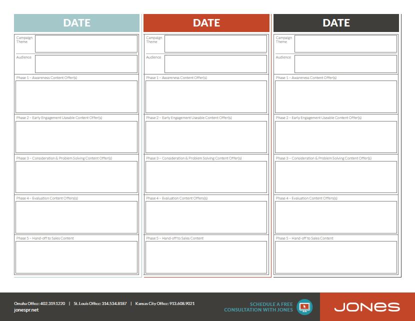 Jones Campaign Planning Calendar