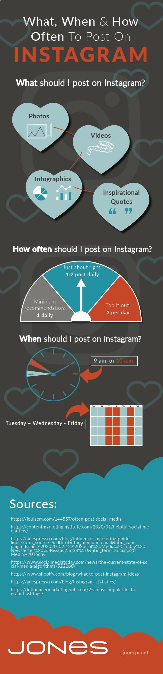 Jones complete social media guide infographic instagram