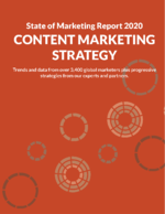 State of Marketing 2020 - Content Marketing Section