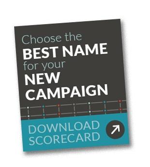 Scorecard for branding
