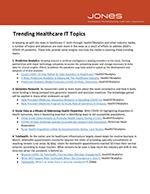 Trending Healthcare IT Topics2020 Cover No shadow
