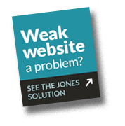website design the JONES solution