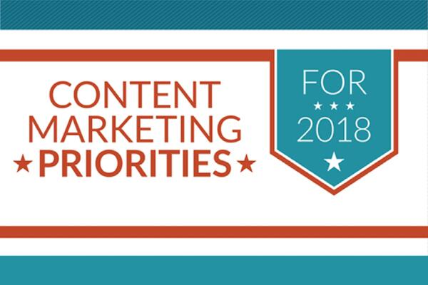 Content Marketing Priorities for 2018 (infographic)