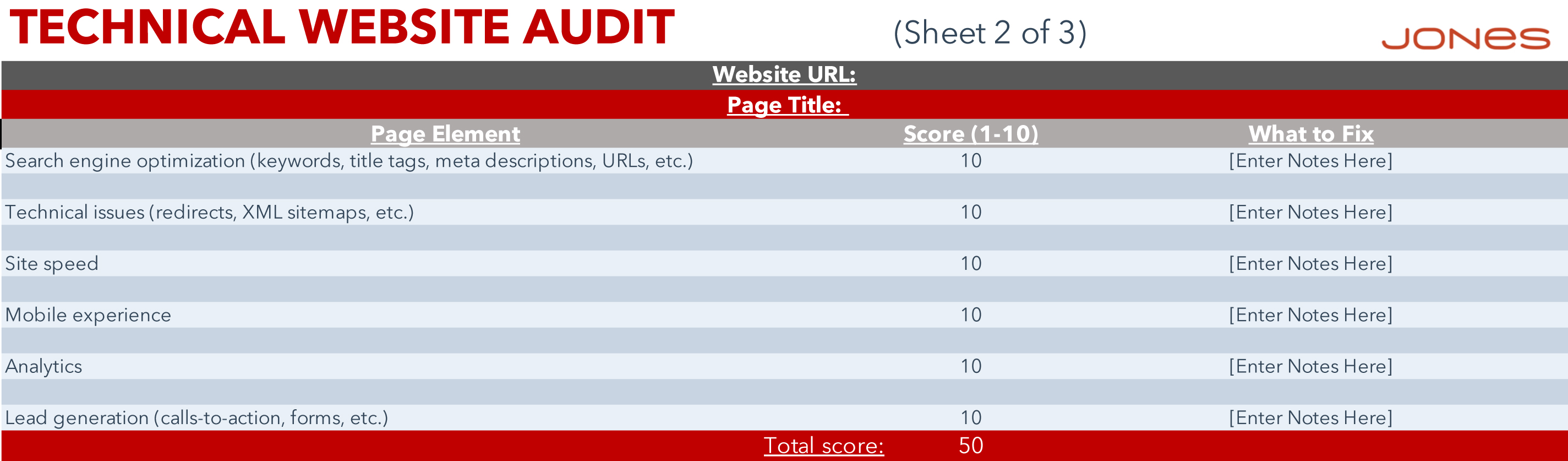 JONES Website Redesign Audit Template-technical