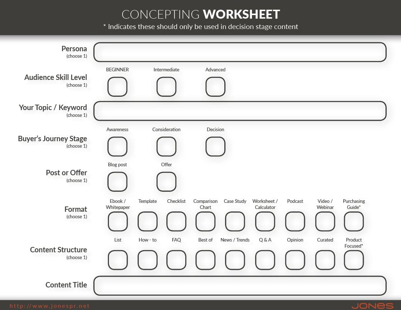 Concepting Worksheet