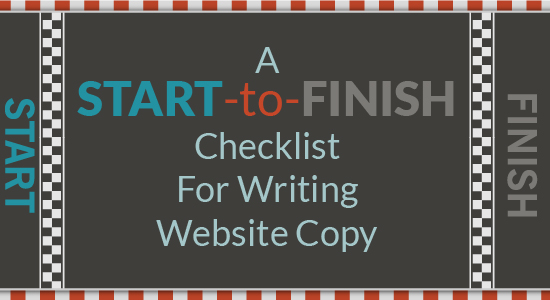 A Start-to-Finish Checklist for Writing Website Copy