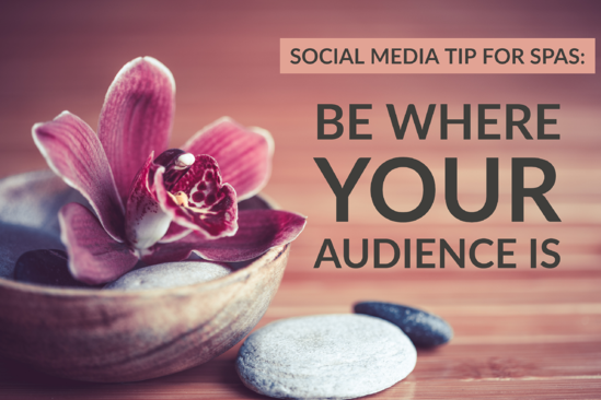Social Media Tip For Spas_ Be Where Your Audience Is