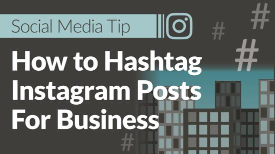 Social media tip hashtag instagram