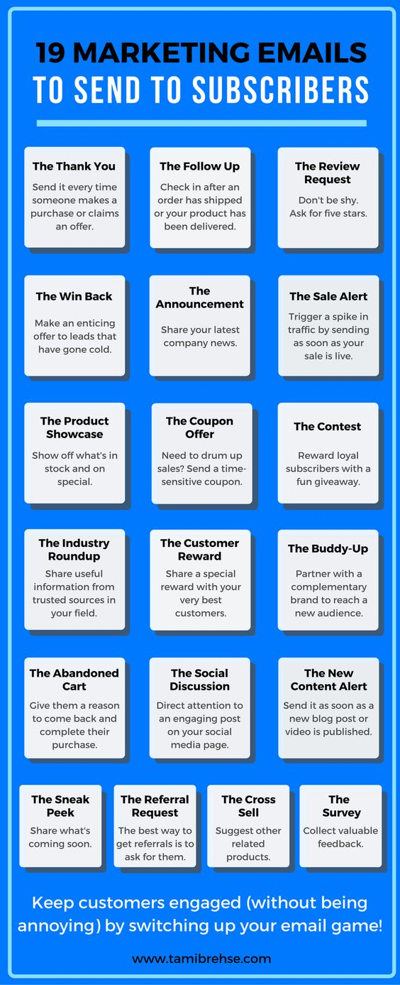 email ideas