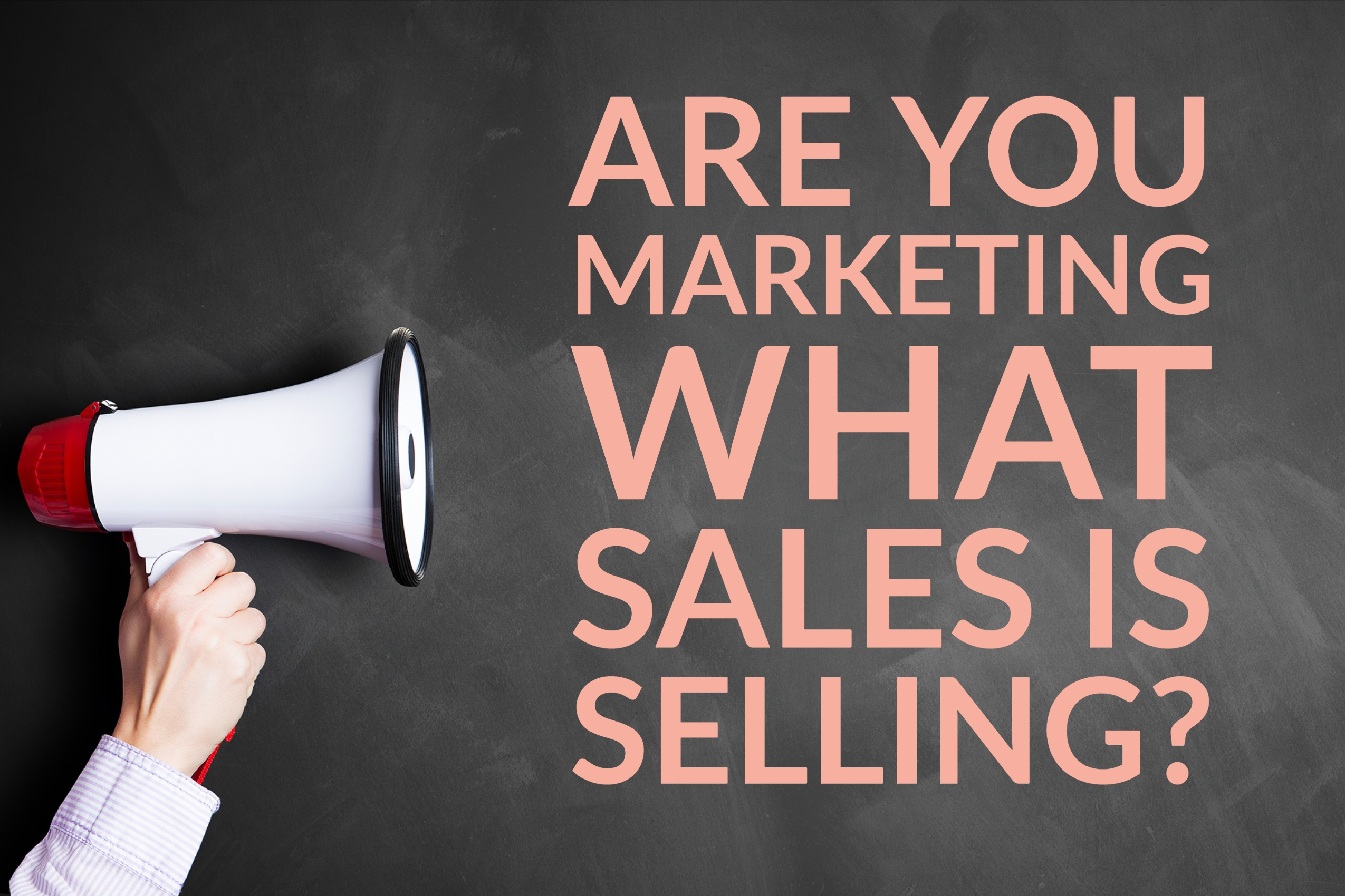 Are You Marketing What Sales Is Selling_