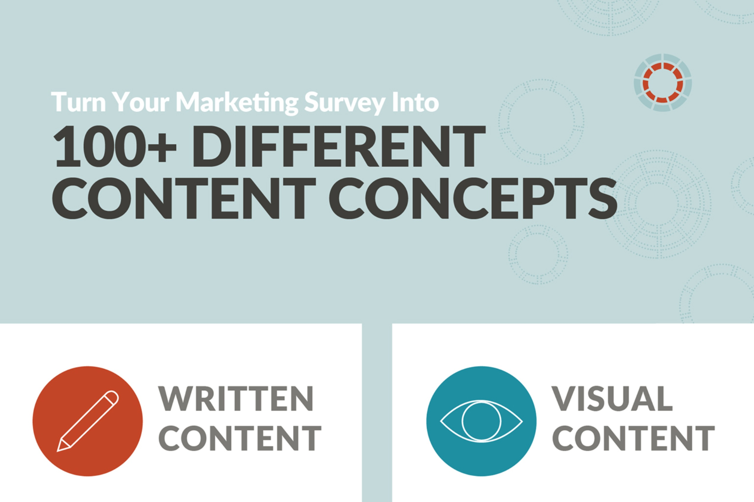 Turn Your Marketing Survey Into 100+ Content Concepts (infographic)